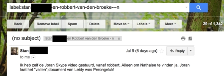 Stan admitting it was him sending this, not Robbert van den Broeke