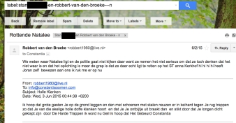 """Robbert van den Broeke talking in a very contemptuous way about """"St. Anna and Natalee Holloway"""" (Hate Mail)"""
