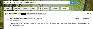 Stan says he has a secret, using Robbert van den Broeke's account