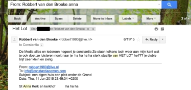 Robbert van den Broeke haatmail over Natalee Holloway