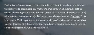 Einde van Blog Deel III (Achter De Schermen Bij Robbert Van Den Broeke)
