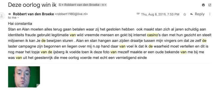 Robbert van den Broeke email