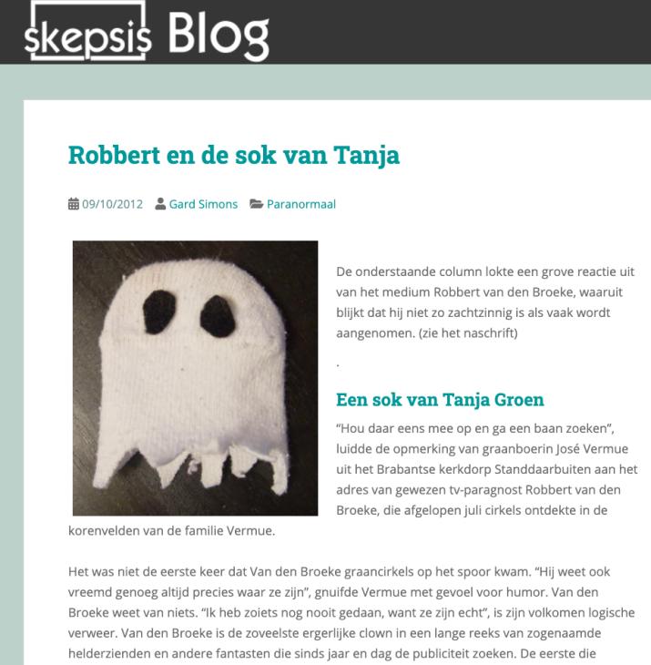 Voor Rob Nanninga was de Genverbrander sok in 2012 wel klaar voor het archief. https://www.skepsis.nl/blog/2012/10/robbert-en-de-sok-van-tanja/