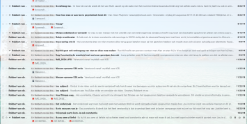 The harvest of Robbert van den Broeke hate emails since about the last blog on my Parameter Wordpress site