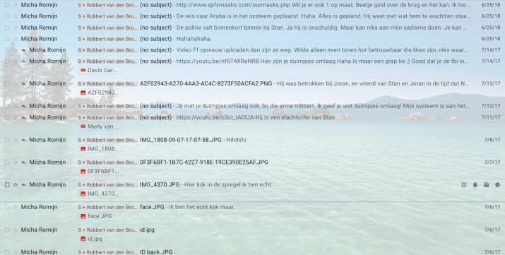 """Mails """"Micha Romijn"""""""