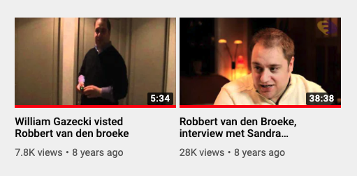 Robbert van den Broeke videos, as seen on May 19, 2020